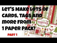 Cards, Tags and More from 1 Paper Pack Super Quick and Easy - YouTube