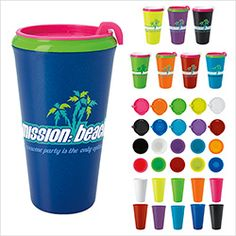 46028 - Norwood by BIC Graphic Multi-Color Infinity Tumbler 16 oz. Mix and Match lids and tumblers with bright, trendy colors! #promoproducts