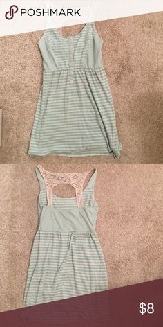 O'Neill striped dress Size small barely worn with lace back and turquoise stripes O'Neill Dresses