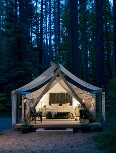 Pampered Wilderness - Washington State, USA #glamping in Millersylvania State Park campground. HOLY MOLY!