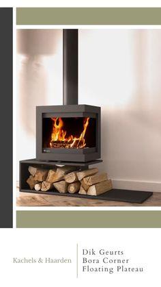 Floating Fireplace, Freestanding Fireplace, Modern Fireplace, Living Room With Fireplace, Fireplace Design, Wood Stove Modern, Modern Wood Burning Stoves, Modern Stoves, Modern Log Burners