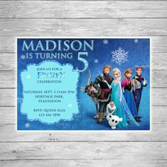 Frozen Inspired Invitation  Cast by TheCuteKoala on Etsy