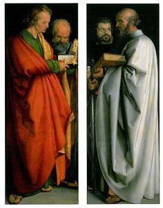 The Four Apostles, (l-r John, Peter, Mark, Paul), 1526, Alte Pinakothek