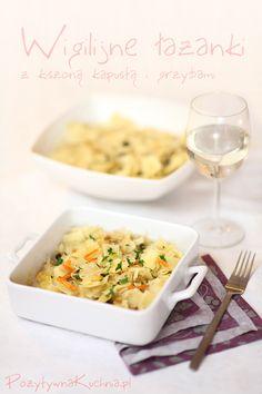 Łazanki wigilijne Polish Recipes, Polish Food, Christmas Eve, Macaroni And Cheese, Goodies, Pasta, Dining, Cooking, Ethnic Recipes