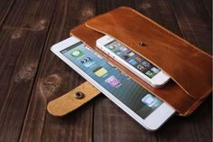 handmade gadgets | The Handmade Leather iPad Mini Case with a Pocket for iPhone