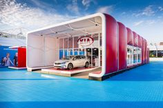 A 10m AirClad on display at the Australian Open in Melbourne for KIA