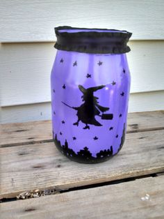 Halloween Luminary Jar! by ToastyBarkerBoutique on Etsy