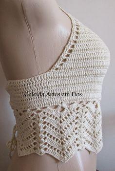 Motif Bikini Crochet, Débardeurs Au Crochet, Bikinis Crochet, Crochet Shirt, Crochet Cardigan, Crochet Summer Tops, Crochet Halter Tops, Crochet Crop Top, Crochet For Beginners