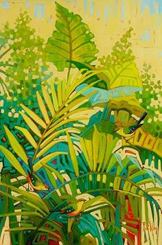 """Tropical Greeting,"" by René Wiley by Rene' Wiley Gallery Oil ~ 36 x 24"