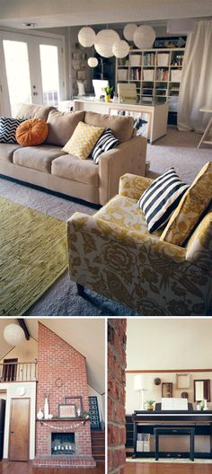 Don't like color of sofa, but like mix of pattern