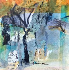 "Daily Painters Abstract Gallery: Mixed Media Abstract Painting ""Season of Renewal"" by Intuitive Artist Joan Fullerton"