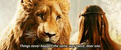 """""""Things never happen the same way twice, dear one."""" 