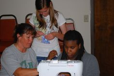 Mindy volunteers to teach the basics of sewing using a sewing machine and hand skills.  She works with the youth in this 4-H project to understand the difference between making an item yourself and purchasing a comparable item. 4-H curriculum can be found at  http://www.4-h.org/resource-library/curriculum/4-h-sewing/