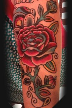 Oooo, love this.  Traditional style rose tattoo