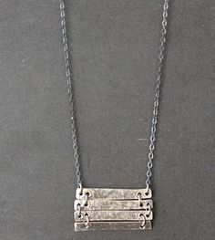 Fun with textured and treated silver bars!
