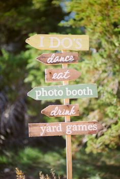 Super adorable signage | Whimsical Austin Texas Wedding from The Bird and The Bear + Petals, Ink. Read more - http://www.stylemepretty.com/texas-weddings/2013/11/04/whimsical-austin-texas-wedding-from-the-bird-and-the-bear-peals-ink/