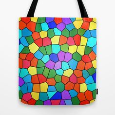 Stained Glass Rainbow Tote Bag by Celeste Sheffey of Khoncepts - $22.00