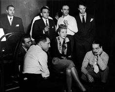 BRIGADOON's recording session - 1947. Pamela Britton, Alan Jay Lerner, Frederick Loewe