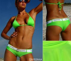 Monica Fluo shorts - Comfortable and sexy bathing suit in lycra soft fluorescent. Manufactured in Italy using quality fabrics. Herve Leger, Luxury Bags, Hot Bikini, Online Shopping Clothes, Wholesale Clothing, Bikinis, Swimwear, Bathing Suits, Fabrics