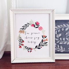 I'm gonna choose joy today print of watercolor wreath