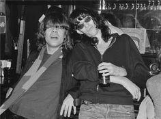 David Johansen (New York Dolls) and Joey Ramone, CBGB NYC, 1976, by Bob Gruen