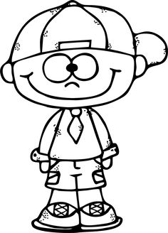 Pictures of happy boy clipart black and white - People Coloring Pages, Colouring Pages, Printable Coloring Pages, Coloring Books, Free Coloring Sheets, Coloring Pages For Kids, Art Drawings For Kids, Cartoon Drawings, Shopkin Coloring Pages