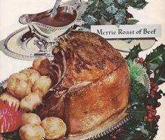 Visit the post for more. Christmas Roast, Retro Table, Roast Dinner, Christmas Goodies, Vintage Recipes, Pot Roast, Vintage Christmas, Turkey, Thanksgiving