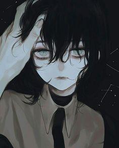 Pin by silvah on anime~ Sad Anime Girl, Anime Art Girl, Anime Guys, Art Manga, Manga Anime, Arte Obscura, Sad Art, Art Et Illustration, Aesthetic Anime