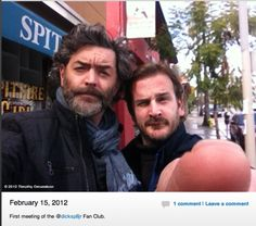 Timonthy Omundson & Richard Speight.Just Cain & Gabriel, taking a selfie.