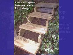 Concrete Stairs, Deck Stairs, Concrete Driveways, Landscaping On A Hill, Landscaping Ideas, Mulch Landscaping, Backyard Ideas, Steep Backyard, Sloped Backyard