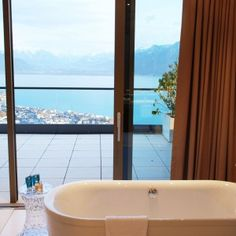 Panoramic bathtub of Le Mirador Suite Dream Hotel, Spa, Above The Clouds, Bathtub, Rooms, Standing Bath, Bedrooms, Bath Tub, Coins