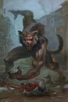 Répertoire Image Fantasy - Page 665 Arte Horror, Horror Art, Fantasy Creatures, Mythical Creatures, Werewolf Art, Vampires And Werewolves, Classic Monsters, Monster Art, Fantasy Artwork