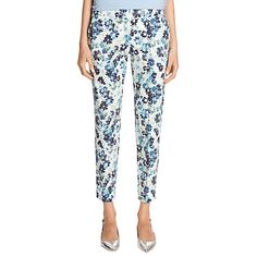 Buy Warehouse Floral Trousers, Blue Online at johnlewis.com