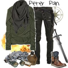 Post-Apocalyptic: Peter Pan by yerd213 on Polyvore featuring Burberry, AllSaints, Balmain, Steve Madden and Pier 1 Imports