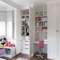 Fitted children's storage and wardrobes from Inhouse Interiors for girl's bedroom