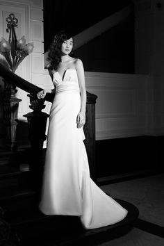 Mermaid Crafts, Strapless Bustier, Satin Bows, One Shoulder Wedding Dress, Gowns, Elegant, Wedding Dresses, Mini, Cape