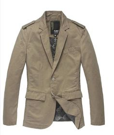 one button Solid blazers jacket