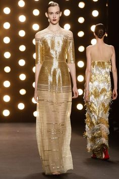 Naeem Khan Ready To Wear Fall Winter 2014 New York ...Gorgeous, love the fabric. Add another lining but keep the details. Cheaper to have custom-made than purchasing from salon.