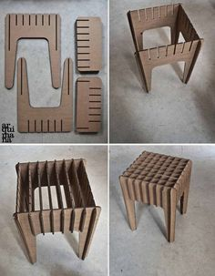 Our Little Cardboard Stool by arquimana on Etsy(Diy Furniture Cardboard)