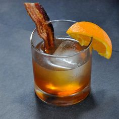 These bacon bourbon maple Old Fashioned cocktails are a tasty take on this mixology classic. Also, we will talk about fat washing bourbon.