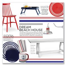 """""""Seaside"""" by annatiblog ❤ liked on Polyvore featuring interior, interiors, interior design, home, home decor, interior decorating, Kate Spade, Bungalow 5, Mark & Graham and Deborah Rhodes"""