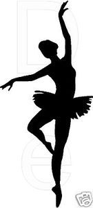 Ballet silhouette Wall Decal Vinyl Sticker Decor Word Letters