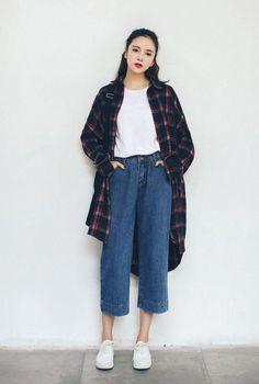 New Fashion Week Street Style 2017 Moda 27 Ideas Seoul Fashion, Korean Street Fashion, Korean Fashion Trends 2017, Korean Fashion Tomboy, Tokyo Fashion, Fashion 2017, Look Fashion, Trendy Fashion, Fashion Outfits