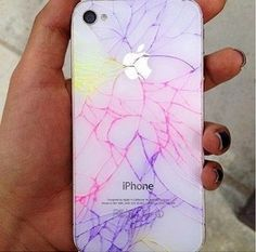 Awesome color cracked iPhone case