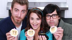 Rosanna Pansino Demonstrates How to Make Video Game-Themed 'Bomberman' Cupcakes With Help From Rhett & Link