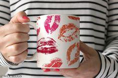 Lipstick Mug Pretty Mug Cute Mugs Mugs for Her Unique by MixMugs
