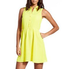 Yellow chiffon dress from Charlotte russe