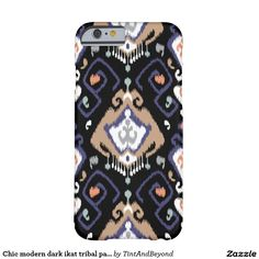 Chic modern dark ikat tribal pattern barely there iPhone 6 case. Artwork designed by Tint And Beyond Gift Store . Price  $44.65 per case.