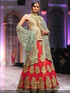 Sonalika Sahay showcases a creation by designer duo Ashima and Leena during India Bridal Fashion Week '13, held at Grand Hyatt, in Mumbai.