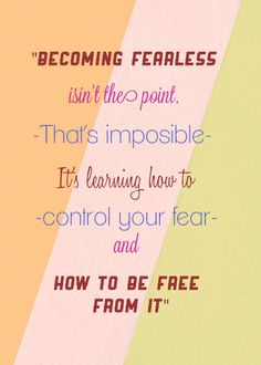 interesting how fear is so often a theme....i thought of dune as i read this......